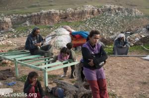 Po demolici ve vesnici Al-Maleh, Jordánské údolí (Foto: activestill.org)
