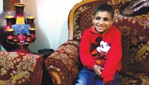 Ahmed Abu Rimaileh, osmiletý klučina, který přiznal, že když ho zatkli, rozplakal se. (Foto Haaretz)