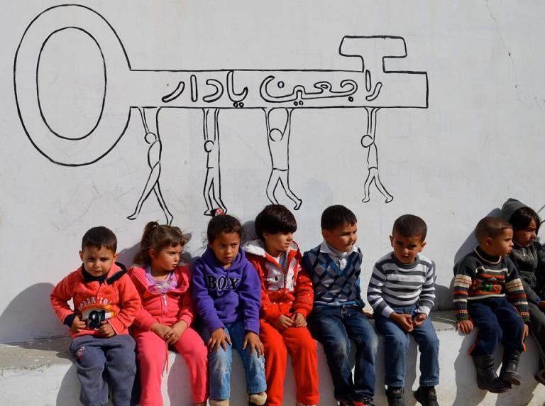 Děti ve vesnici Bilin (Foto: Experiences from Palestine)