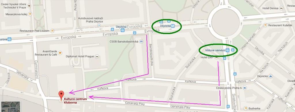 mapa klubovna