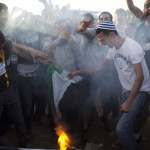 Anti Palestinian demo, Gush Etzion junction, West Bank, 16.6.201